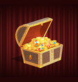 loot box with gemstone brilliant and coin vector image vector image