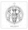 magic witchcraft card with aquarius zodiac sign