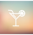 Margarita drink with lemon thin line icon vector image vector image