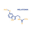 melatonin hormone molecular formula human body vector image vector image