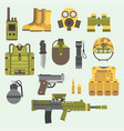 military weapon guns armor forces american fighter vector image vector image