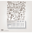 Music instruments icon Flat abstract background vector image vector image