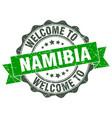 namibia round ribbon seal vector image vector image