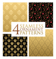 ornament patterns vector image vector image