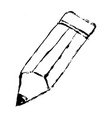 Pencil flat icon doodle hand-drawn grunge outline