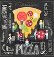 pizza pizzeria menu vector image vector image