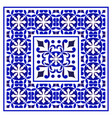 porcelain frame vector image vector image