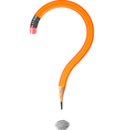 Question mark made of a pencil vector image vector image