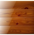 Realistic brown wood boards texture vector image