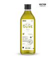 realistic extra virgin olive oil glass bottle vector image vector image
