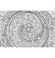 rectangle cosmic coloring book page with spiral vector image