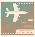 Retro travel vector image