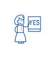 say yes line icon concept say yes flat vector image