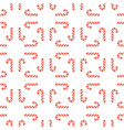 seamless Christmas pattern of candy vector image