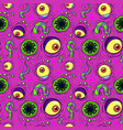 seamless pattern monster vector image vector image