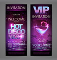 set of disco background banners hot cocktail vector image vector image