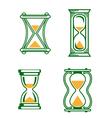 set vintage hourglass vector image