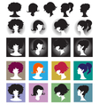 silhouette girl vector image