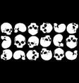 skull background black vector image vector image