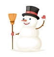 Snowman Character Christmas New Year Isolated Icon vector image vector image