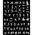 Sport icons for many sports vector image vector image