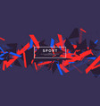 trendy sports background composition geometric vector image