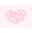 Valentine card hearts background vector image vector image