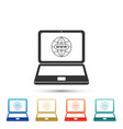 website on laptop screen icon on grey background vector image vector image
