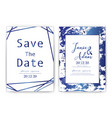 wedding invitation card save the date wedding vector image