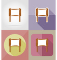 wooden board flat icons 08 vector image vector image