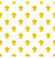 yellow soccer referee shirt pattern vector image vector image