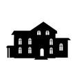 black building icon closeup on vector image