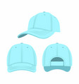blue baseball cap vector image