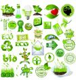 eco and bio icons vector image