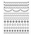 13 hand drawn dividers vector image
