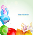 abstract cube shapes design vector image