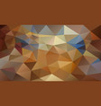 abstract irregular polygonal background brown vector image vector image