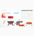 american hot dog vector image vector image