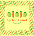 apple and carrot juice logo vector image
