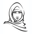 arabian woman vector image vector image