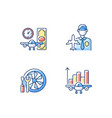 aviation rgb color icons set vector image
