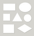 blank postage stamps different shapes set vector image
