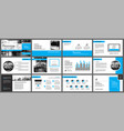 blue and white element for slide infographic on vector image vector image