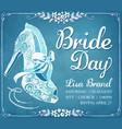 bridal shower invitation card vector image vector image