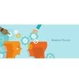 business process gears management work flow vector image vector image