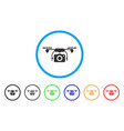 camera drone rounded icon vector image vector image