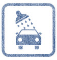 car wash fabric textured icon vector image vector image