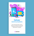 cellular communication cellphones and sim cards vector image