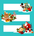 christmas holiday gift banner with copy space vector image vector image