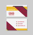 city background business card design template can vector image vector image